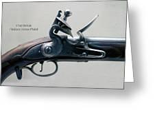 Firearms 1746 British Flintlock Horse Pistol Greeting Card