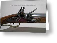 Firearms 1792 Virginia Legion Of The United States Rifle Greeting Card
