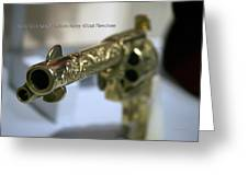 Firearms Gold Colt Single Action Army 45cal Revolver Greeting Card