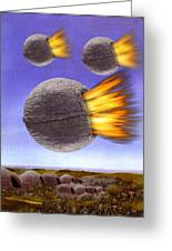 Fireballs Greeting Card