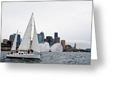 Fireboat Sail By Greeting Card