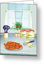 Fried Chicken Greeting Card