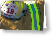 Firefighter Still Life Greeting Card
