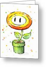 Fireflower Watercolor Greeting Card