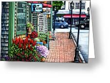 Firefly Lane Bar Harbor Maine Greeting Card