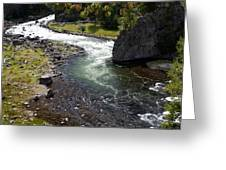Firehole Bend Greeting Card