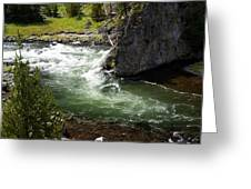 Firehole Canyon 1 Greeting Card
