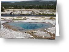 Firehole River And Pool Greeting Card