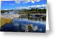 Firehole River Yellowstone Greeting Card
