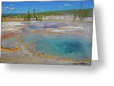 Firehole Spring Greeting Card