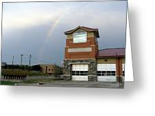 Firehouse Ranibow Greeting Card