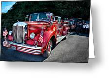 Fireman - 1949 And It Still Runs  Greeting Card