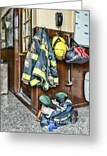 Fireman - Always Ready Greeting Card