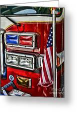 Fireman - Fire Truck Greeting Card