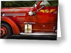 Fireman - Garwood Fire Dept Greeting Card by Mike Savad