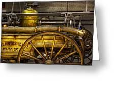 Fireman - Piano Engine - 1855  Greeting Card by Mike Savad