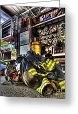 Fireman - Always Ready For Duty Greeting Card