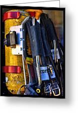 Fireman Gear Greeting Card