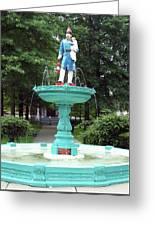 Firemans Monument  Owego New York Greeting Card