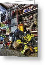 Firemen Always Ready For Duty - Fire Station - Union New Jersey Greeting Card