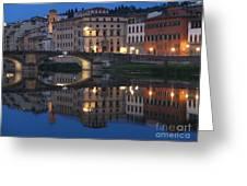 Firenze Blue I Greeting Card