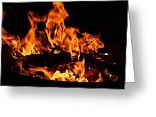 Firepit Greeting Card