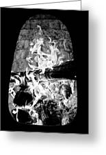 Fireplace Black And White Greeting Card