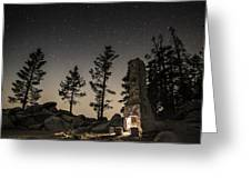 Fireplace Under The Stars Greeting Card
