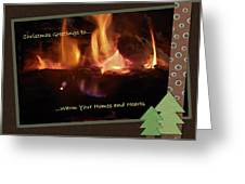 Fireside Christmas Greeting Greeting Card