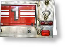 Firetruck Detail I Greeting Card by Kicka Witte - Printscapes