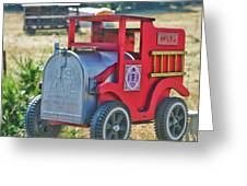 Firetruck Mailbox Greeting Card