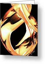 Firewater 1 - Buy Orange Fire Art Prints Greeting Card