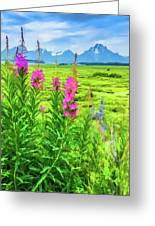 Fireweed In The Foreground 2 Greeting Card