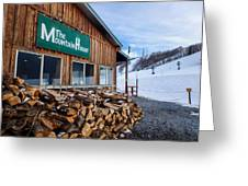 Firewood Ready To Burn In Fire Place Greeting Card