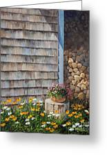 Firewood Shed					 Greeting Card
