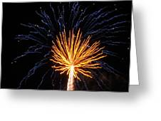 Firework Blue And Gold Greeting Card