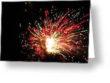 Firework Christmas Sparkle Greeting Card