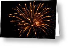 Firework Golden Lights Greeting Card
