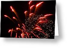 Firework Lights Of The City Greeting Card