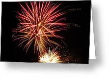 Firework Pink And Gold Greeting Card