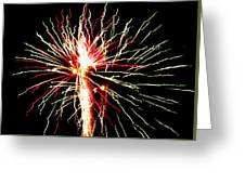 Firework Pink And Green Streaks Greeting Card