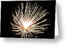 Firework White Fluff Greeting Card