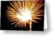 Firework Yellow Burst Greeting Card