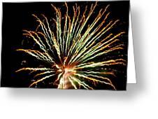 Firework Yellow Tip Greeting Card