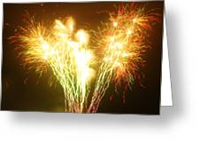 Fireworks 2 Greeting Card by Oliver Johnston