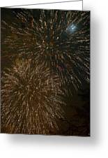 Fireworks 4 With Moon Greeting Card