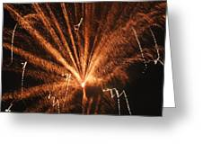 Fireworks A Different Perspective Seven Greeting Card