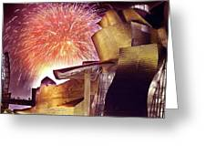 Fireworks At Guggenheim Greeting Card