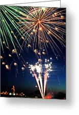 Fireworks At Maple Creek Greeting Card