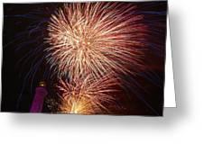 Fireworks At Maspalomas 2  Greeting Card